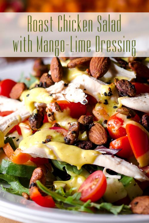 Roast Chicken Salad with Mango Lime Dressing