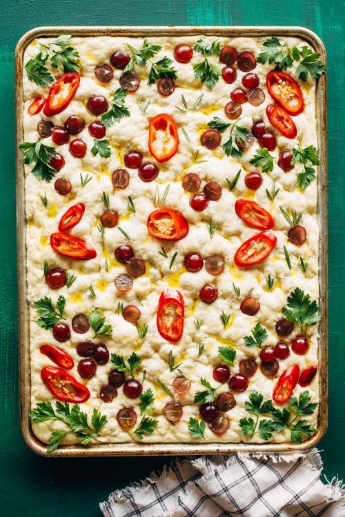 Garden Grape Focaccia Recipe