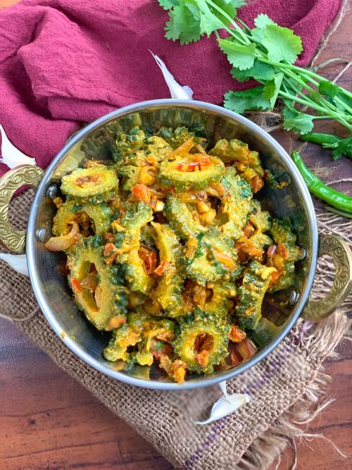 Sindhi Karela Bhaji Recipe - Sindhi Style Bitter Gourd Sabzi
