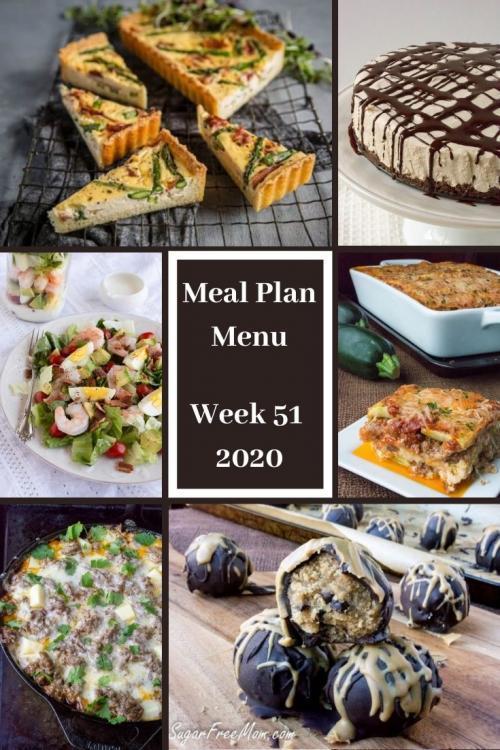 Low-Carb Keto Meal Plan Menu Week 51
