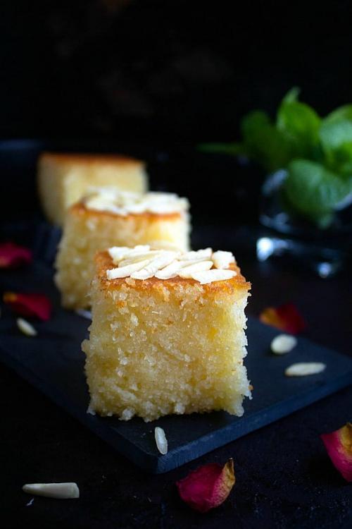 Basbousa   Semolina Coconut Cake   Video