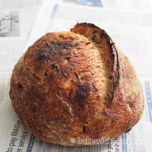 Sun Dried Tomato and Olive Sourdough Bread