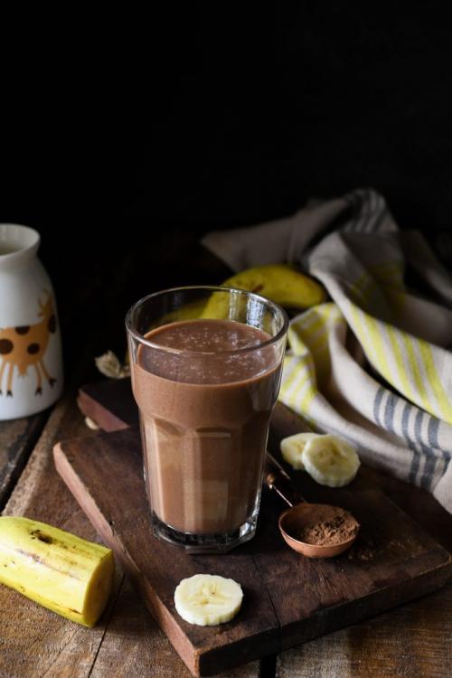 Chocolate Banana Smoothie for kids