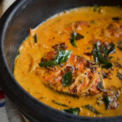 Neymeen Pappas   Karimeen Pappas   Kerala Fish curry with coconut milk