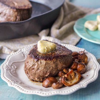 Filet Mignon with Blue Cheese Butter – Low Carb Valentine's Day Dinner
