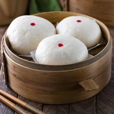 Chinese Steamed Custard Buns