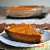 Vamped Up Pumpkin Pie